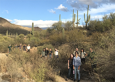 BioDiversity interns in the Sonoran Desert